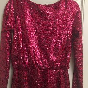 ASOS Dresses - ASOS Hot Pink Sequin Dress, long sleeved